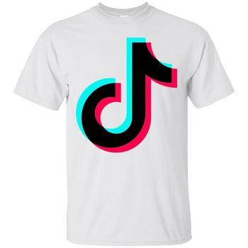 Tik Tok Musically 100% cotton Short Sleeve T-Shirt White, size    Cool Casual pride t shirt men Unisex Fashion tshirt Футболка