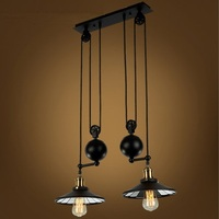 Loft Style Lift Pulley Droplight Edison Vintage Pendant Light Fixtures For Dining Room Scaling Industrial Lamp Lamparas