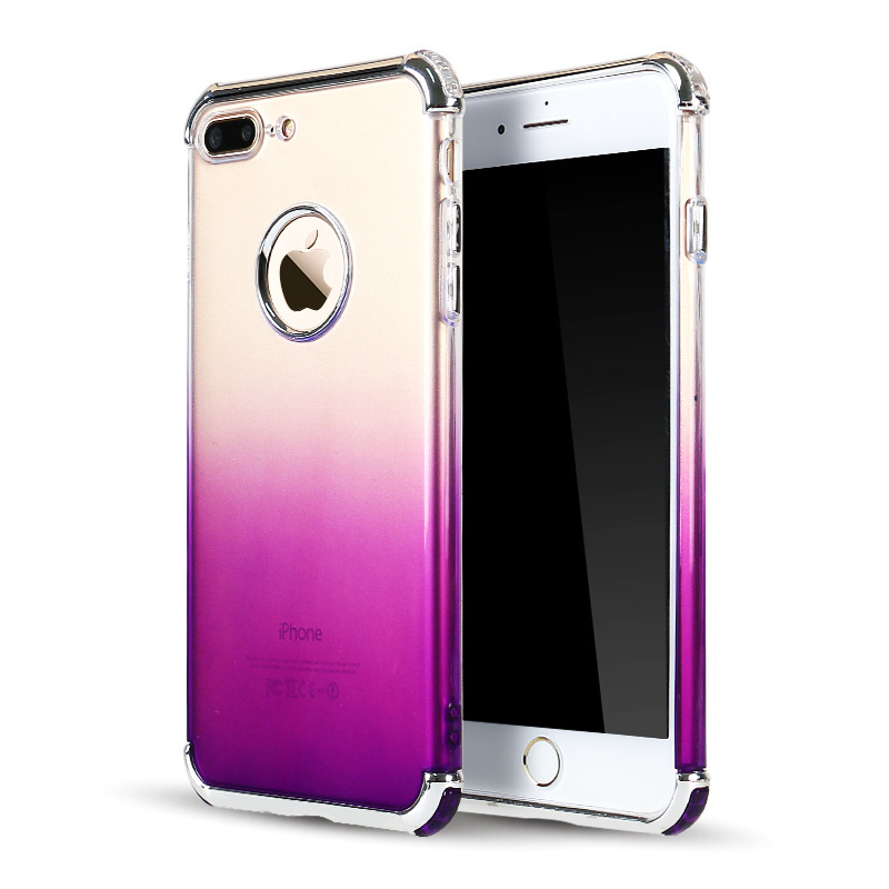Luckywang for iphone 7 case Electroplate Defence Protect Gradual For Iphone 6 S Case Mobile Phone Bags