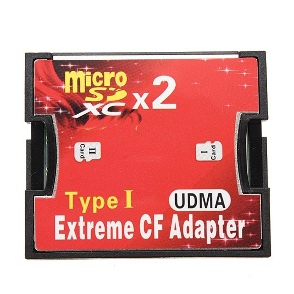 Chaud-vente 2 Port micro SD TF Pour carte CF Type je Carte Mémoire Adaptateur Pour Windows Pour Mac OS Pour Linux