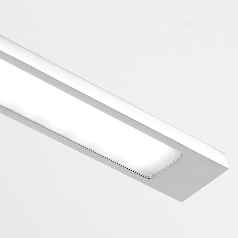 78cm stainless steel vanity mirror light waterproof toilet makeup led luminaire bathroom showroom long wall sconce