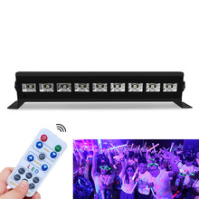 лучшая цена 27W 54W Remote Control Stage Light Effect Party Lamp DMX 512 AC90-240V LED UV Black Light Sound Activated Disco DJ Strobe Light