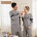 Qianxiu outono o novo modelo casal conjuntos de pijama para homens casual wear confortável 1688 & qh