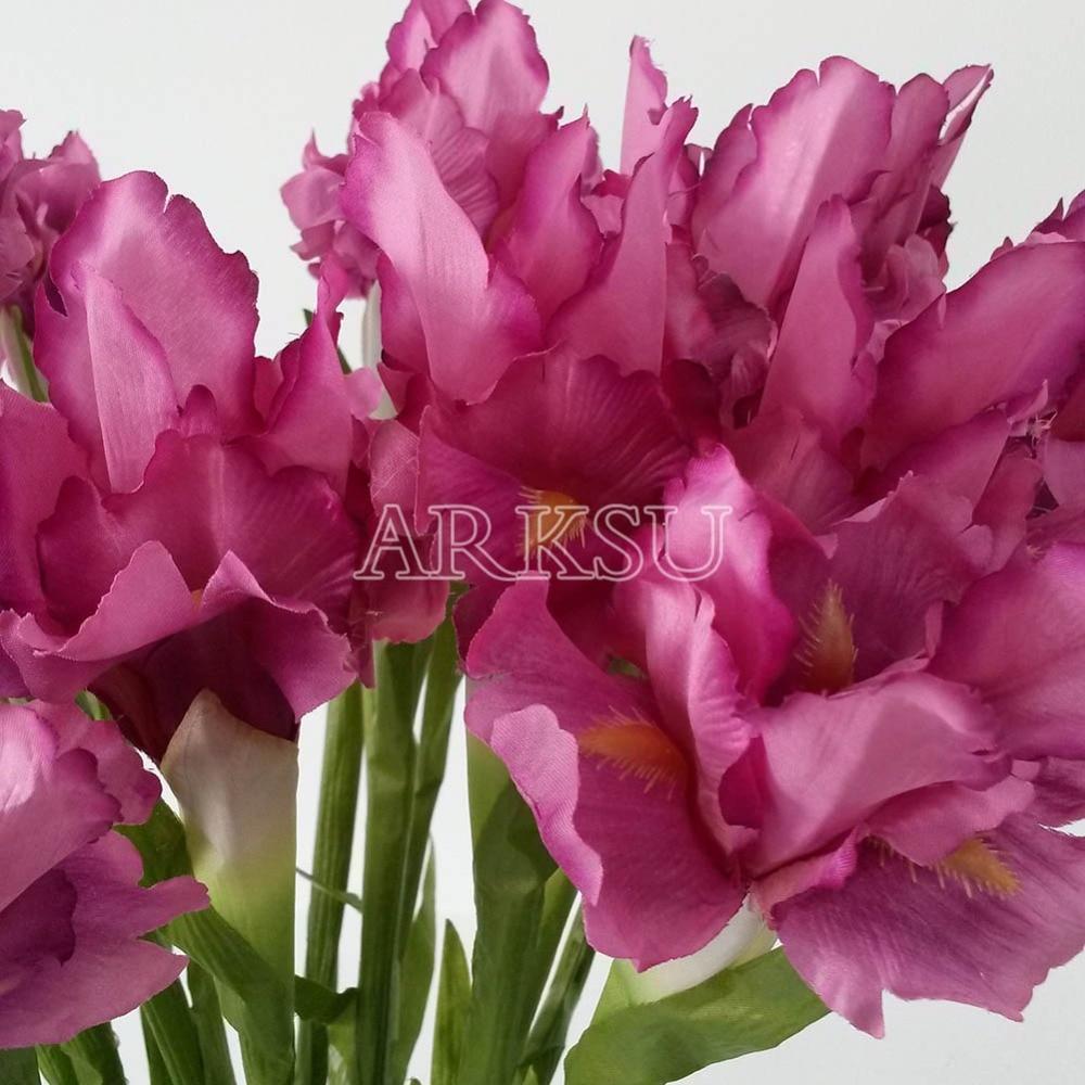 20Pcs/lot Multicolors Wonderful Artificial Flowers Bridal Real Touch ...