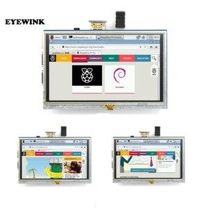Image 1 - Module LCD 5.0 pouces Pi TFT 5 pouces écran tactile résistif 5.0 pouces écran LCD bouclier module HDMI interface pour framboise Pi 3 A +/B +/2B