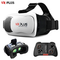 VRBOX 3.0 VR Plus Virtual Reality 3D Glasses Real Glass Lenses Cardboard Immersive Head Mount For 4-6' Mobile Phone + Mocute 050