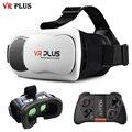 "Vrbox 3.0 vr más realidad virtual gafas 3d lentes de cristal real cartón Envolvente Cabeza de Montaje Para 4-6 ""Teléfono Móvil + Mocute 050"