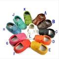 FEDEX ОСВОБОЖДАЮТ корабль 2016 новый Кожаный Детские fringe Мокасины детская Обувь Первые Ходоки Малыша Обувь 20 пара/лот мягких мокасин