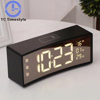 Best Selling 2018 Touch Alarm Clock Digital LCD Display Reveil Night light Table Clocks Snooze Function Decoration Desk Clock