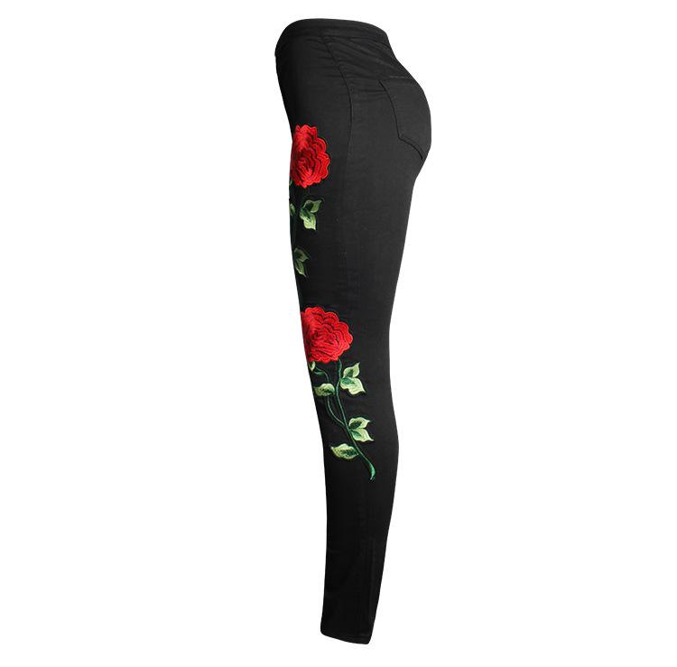 HTB1BFykPVXXXXaYXpXXq6xXFXXXR - FREE SHIPPING Women Stretch Embroidery Ripped Jeans JKP247