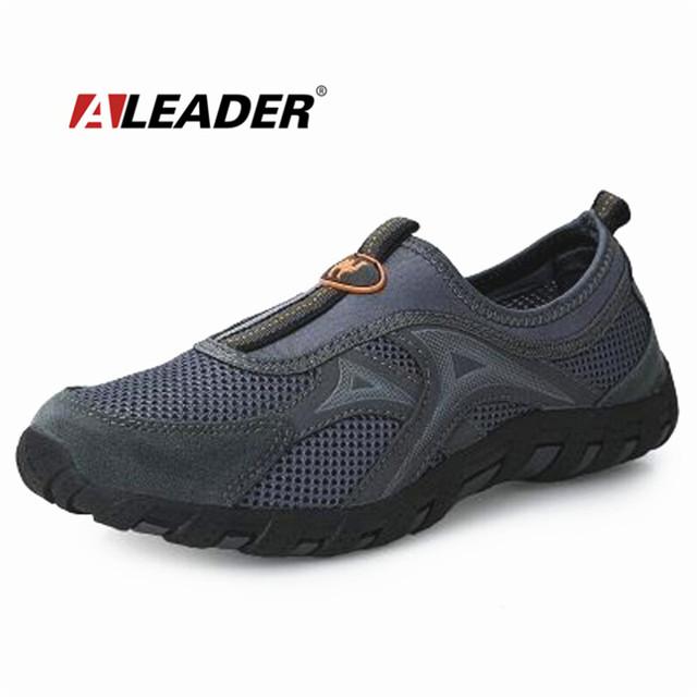 Mens Sapatos Ao Ar Livre Respirável 2015 Primavera/Verão Fresco Deslizamento Em Sapatas Dos Homens de Moda Sapatos de Caminhada zapatillas sapato masculino