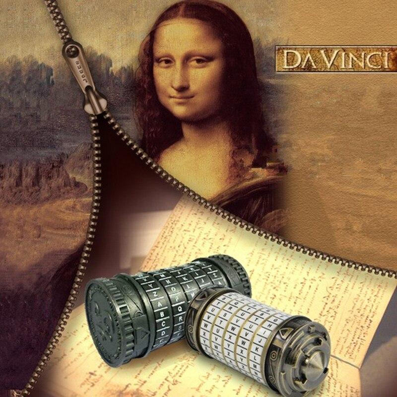 [Nouveau] Leonardo da Vinci jouets éducatifs métal Cryptex serrures idées cadeaux vacances noël cadeau à marier amant évasion chambre - 2