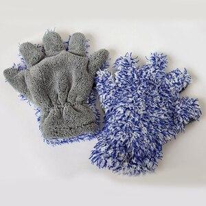 Image 4 - 30x27.5cm yüksek yoğunluklu mikrofiber araba yıkama temizleyici eldiveni maksimum emici eldiven Premium araba temizlik eldiveni araba bakımı detaylandırma