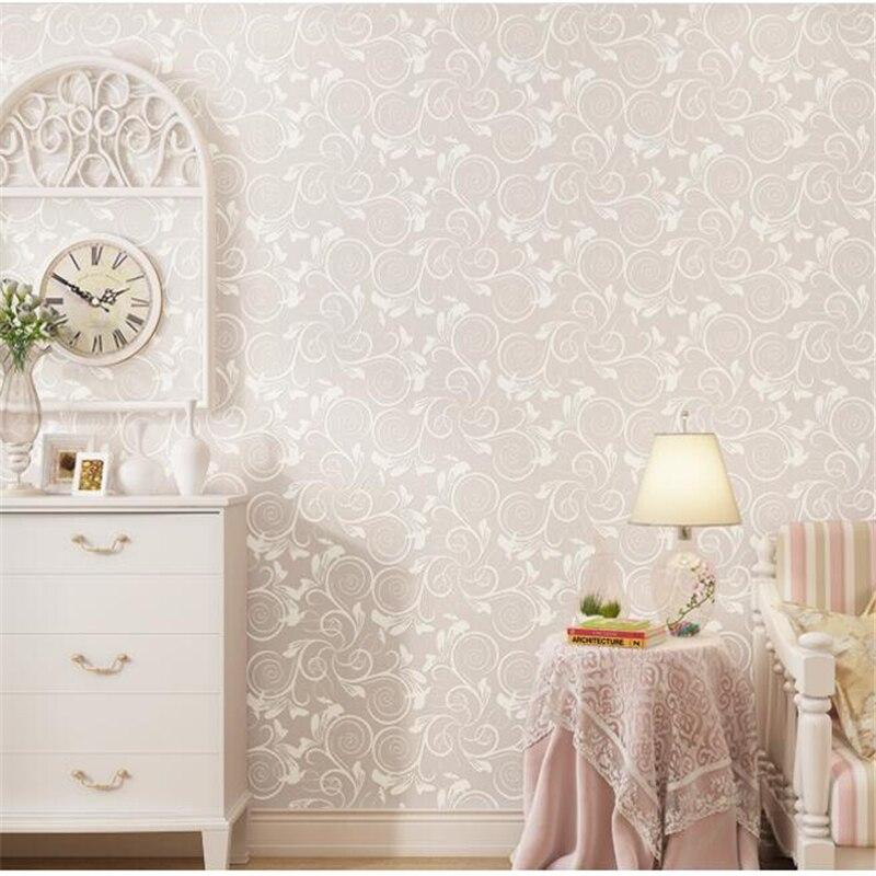 Фотография Beibehang papel de parede Warm Pastoral Modern Simple Nonwovens Wallpaper Bedroom Wedding Room Living Room Background Wallpaper