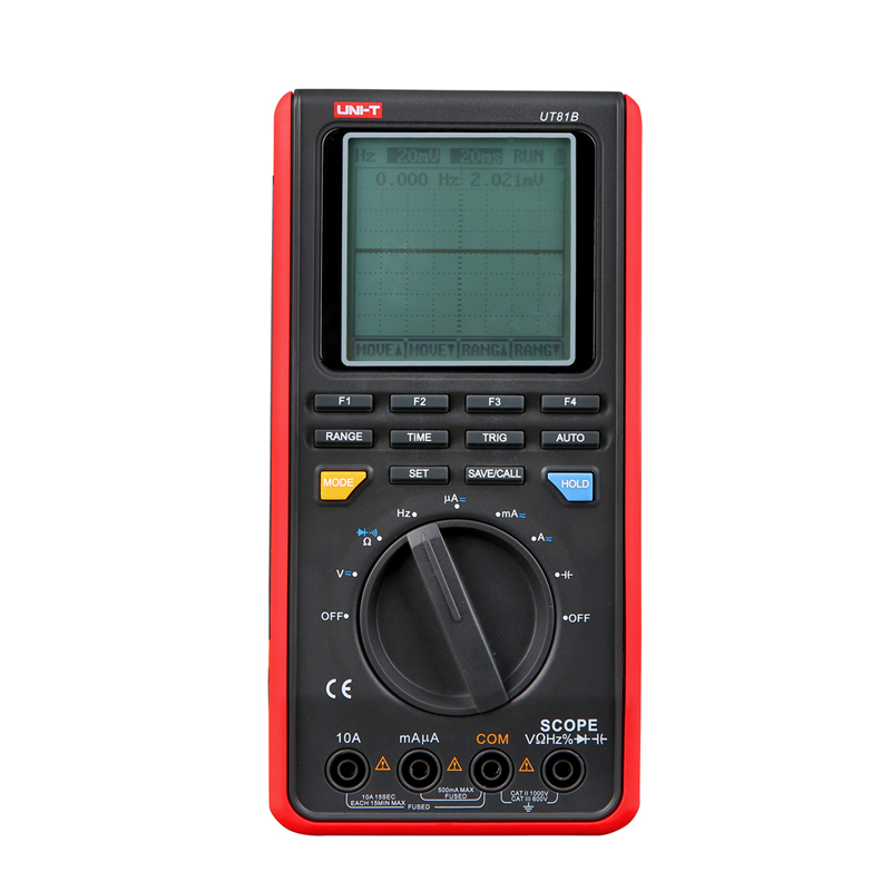 UNI-T UT81B Handheld LCD Scopemeters Oscilloscope 8MHz 40MS/s Real-Time Sample Rate Digital Multimeters With USB Interface uni t ut81b handheld digital multimeter oscilloscope 8 mhz scope 40ms s oscilloscope scopemeter register shipping