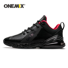 ONEMIX Winter Sneakers for Men Running Shoes Sports Outdoor Jogging Air Cushion Retro Walking Sneaker Casual Leather