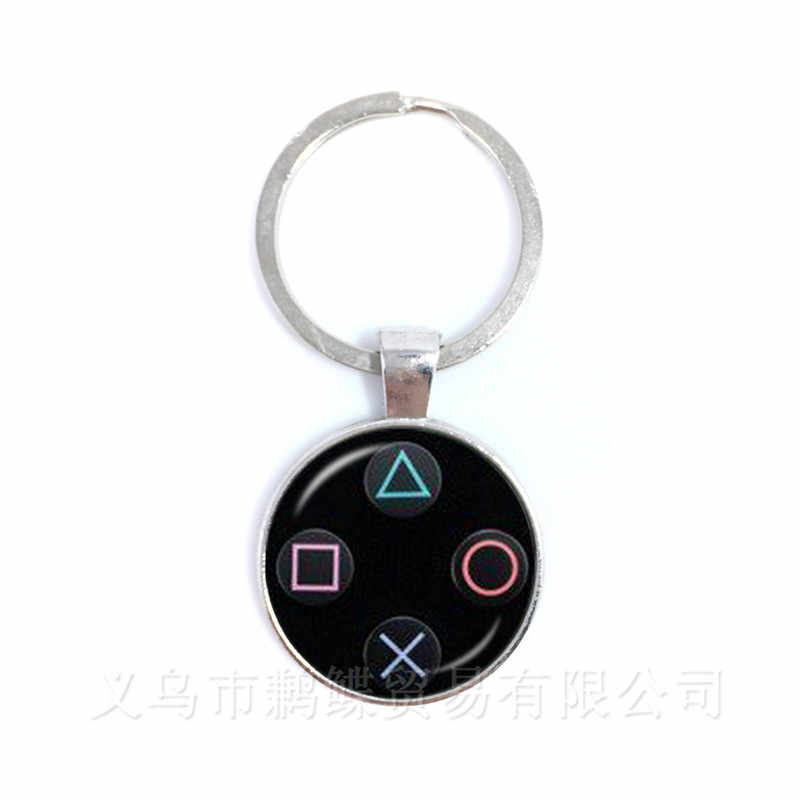 Vintage Video Game Controller Keychains Cool Men Gaming Gamer Jewelry Gift Retro Controller Gamepad Key Picture Keyring