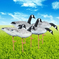 6PCS XPE Eating StandingFoldable Goose Hunting Decoys Lawn Ornament Pond Garden Decoration Greenhand Gear 3 Style Resting,
