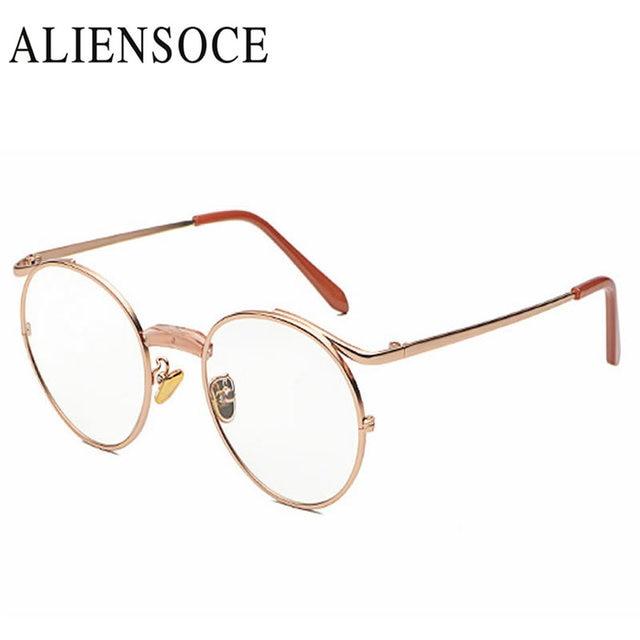 558954f81e Hot Newest Retro Metal all Season Fashion Vantage Round Glasses Women Men  Students Eyewear Multi Color Glasses Frame