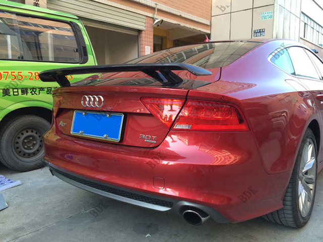 Fit For Audi A7 Carbon Fiber Rear Spoiler Wing