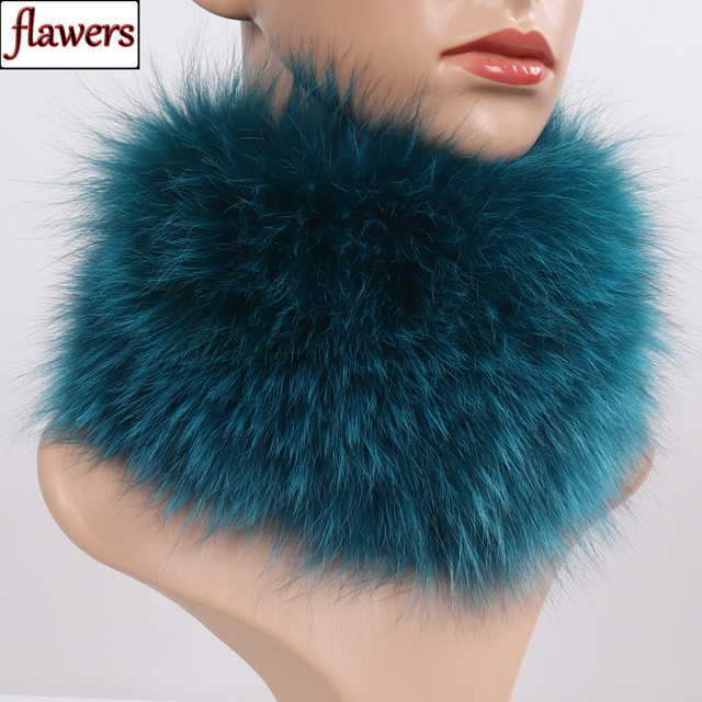 New Real Fox Fur Scarf Fur Headbands Women Winter Ring Fox Fur Scarves Luxury Neck Warmer Good Elastic 100% Natural Fur Mufflers