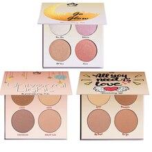 Фотография New Aurelife Face Highlighter Powder Palette Makeup Shimmer Highlight  Glow Kit Iluminador Maquiagem Bronzer