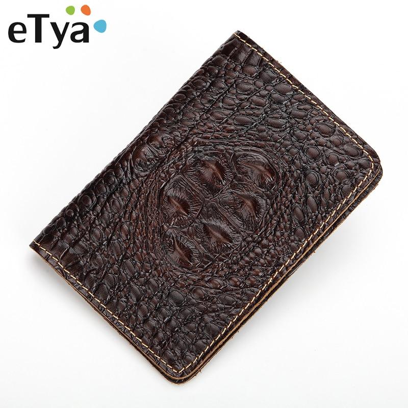 eTya Genuine Leather Travel Passport Wallet Women Men Passport Holders Fashion Vintage Passport Covers Holder Organizer Case цены
