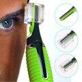 1 Pcs Cuidados Rosto Micro Precision Sobrancelha Orelha Nose Trimmer Clipper Remoção Barbeador Construído Em DIODO EMISSOR de Luz Do Cabelo Pessoal Elétrica Trimer