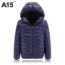 A15 Children Outerwear Warm Coat 2017 Girl Jacket Spring Autumn Winter Hooded Toddler Teenage Jackets for Boys Age 10 12 14 16 Y