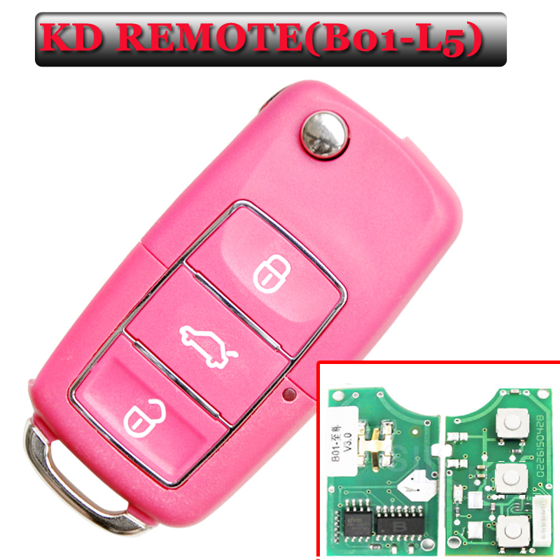 Free shipping (5 pieces)Keydiy B01L-02 Luxury 3 Button Remote Key with Red colour for URG200/KD900/KD200