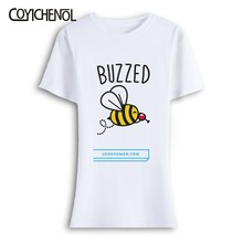 Bee Kind oversize customize print tshirt woman casual short sleeves tops large size solid color top o-neck regular