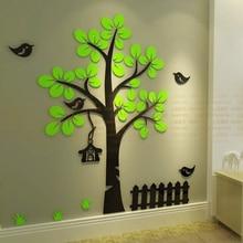Fence tree DIY 3d crystal acrylic three-dimensional wall stickers Child room sofa home decoration