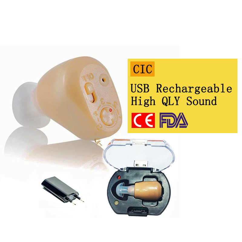 NEW Rechargeable audiphone Mini Hearing Aid Hearing Amplifier Ear Sound Amplifier Hearing Aids Rechargeable Hearing aid