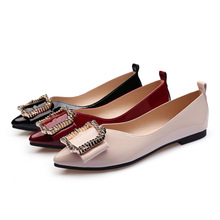 купить Spring/Autumn 2019 Womens Shoes Flat Ballet Flats Pointed Toe Metal Decoration Fashion Casual Shoes Woman Slip-On High Quality дешево