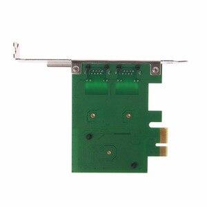 Image 4 - Dual Port PCI Express PCI E X1 Gigabit karta sieciowa Ethernet 10/100/1000 mb/s Adapter LAN wysokiej jakości