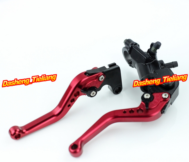 Adjustable Motorcycle Brake Clutch Levers w/ Adapter For Yamaha YZF R1 2004-2013 & YZF R6 2006-2013 Red High Quality with logo yzf r1 black titanium adjustable folding motorcycle brake clutch levers for yamaha yzf r1 2004 2005 2006 2007 2008