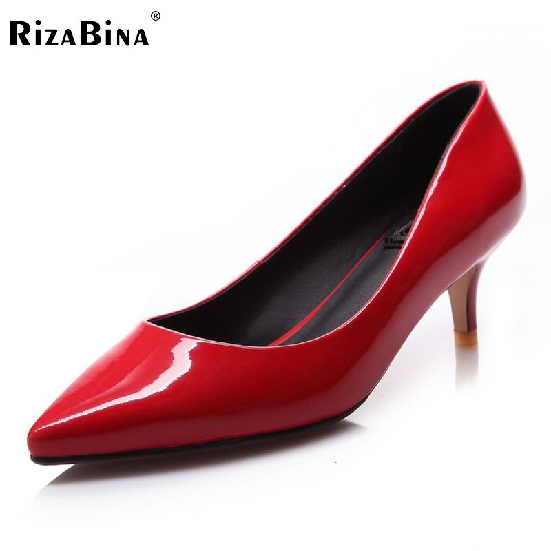 women real genuine leather stiletto pointed toe high heel shoes sexy fashion brand pumps ladies heels shoes size 33-40 R5626 women stiletto square heel high heels wedding shoes pointed toe patent leather fashion pumps heels shoes size 33 40 p22810