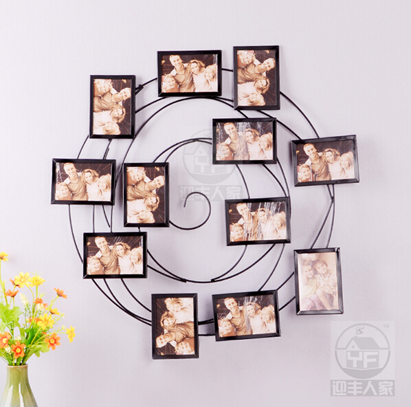 ou wrought iron photo wall sitting room background wall frames photo wall study bedroom picture - Wrought Iron Picture Frames