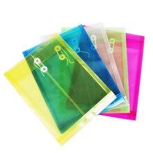 1 шт. простой сплошной цвет пластик прозрачный A4 документов бизнес хранения файл сумка папка для бумаг канцелярские принадлежности