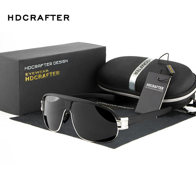 New llegada polarizadas de moda 4 colores de los hombres gafas de sol de diseñador de la marca gafas de sol de alta calidad libre del envío