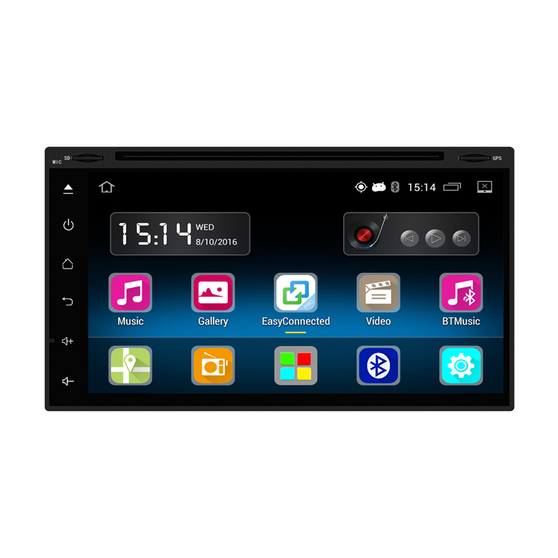 Steering Wheel Control GPS Navigation Autoradio 2 din android 5.1 7 inch Bluetooth 2.0 Player Car DVD Multimedia Player