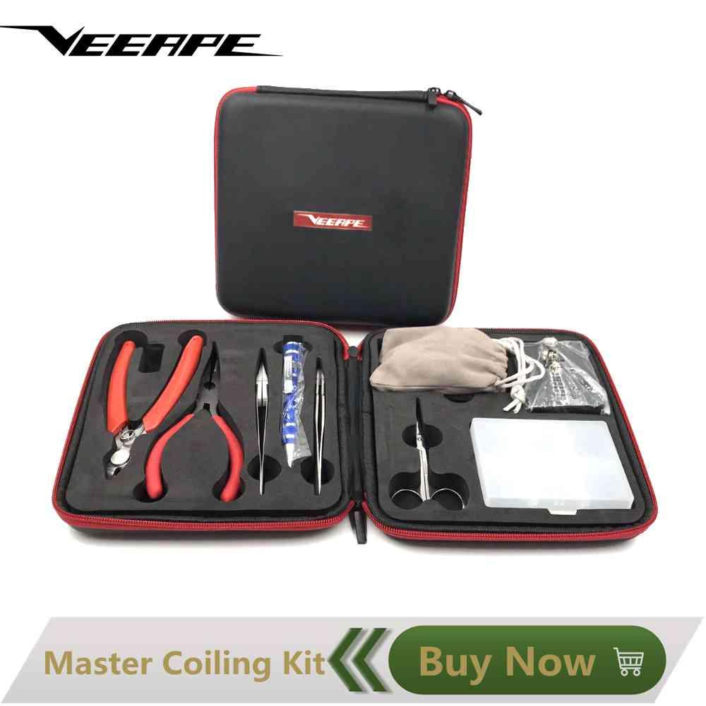 Veeape Hochwertigen Vape Werkzeuge Wickelwerkzeug Master Coiling Kit