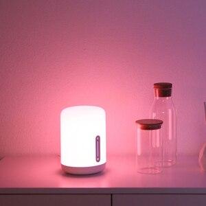 Image 5 - مصباح شاومي Mijia بجانب السرير 2 مصباح ذكي للتحكم في الصوت مفتاح لمس Mi تطبيق منزلي لمبة Led لأبل Homekit Siri و xiaoai ساعة
