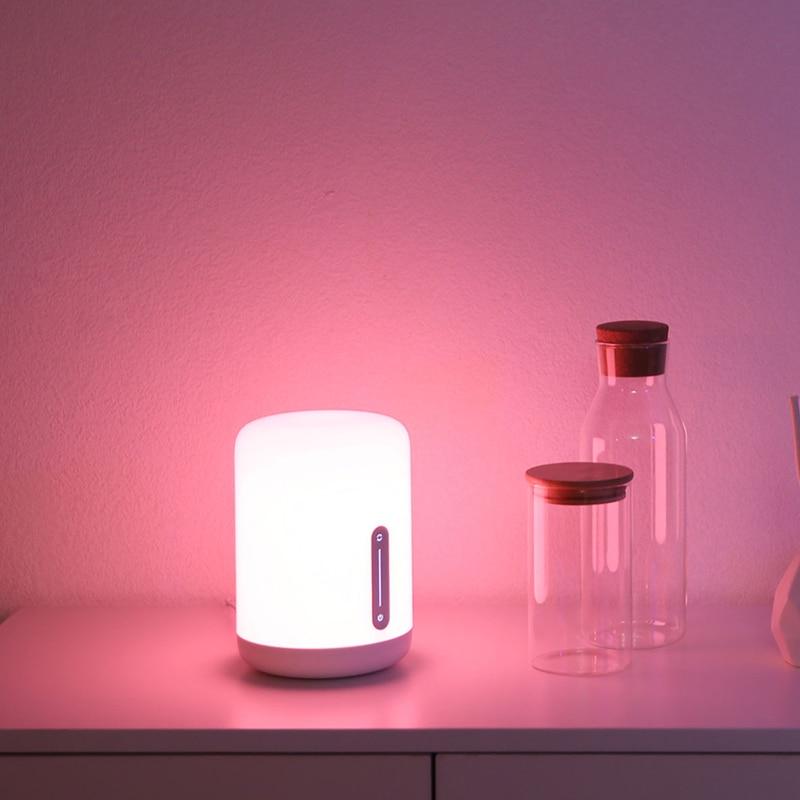 Xiao mi mi jia De Chevet Lampe 2 Smart Light voice control interrupteur tactile mi maison app Led ampoule Pour Apple homekit Siri et xiaoai horloge - 5