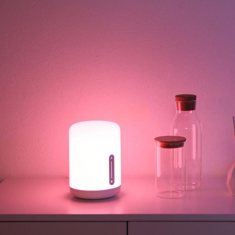 Xiao Mi Mi Jia Lampe De Chevet 2 Lumière Intelligente Commande Vocale Interrupteur Tactile Mi Home App Ampoule Led Pour Apple Homekit Siri Xiaoai