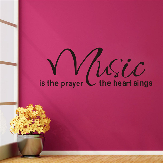music is the prayer the heart sings vinyl wall stickers letters ...