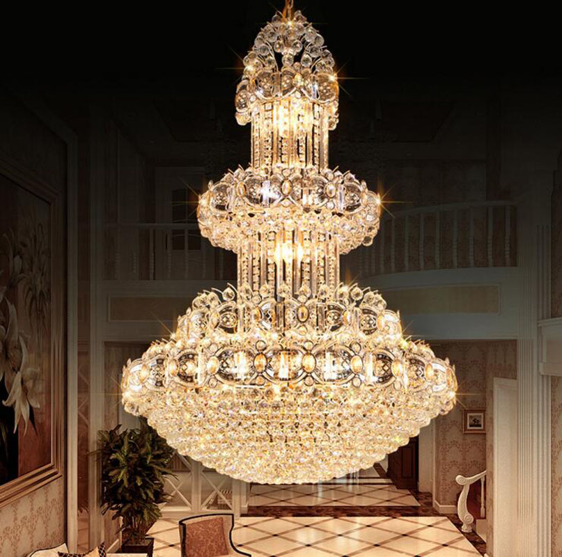 Traditional crystal chandeliers hotel lobby crystal lamps duplexes living room chandeliers large projects large chandeliers led секатор palisad 60557
