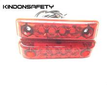 10 sztuk darmowa dostawa! E-MARK zatwierdzone tylna LED światła bariery lampa z 4 sztuk SMT diody LED emitująca czerwone światło 12V lub 24V tanie tanio Klirens lights 0 4W AL27-RP-red Uniwersalny KINDONSAFETY 24 v