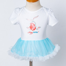 Baby Girl Princess Easter Rabbit Tutu Dress Outfit Sets