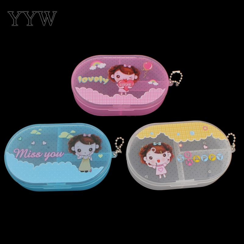 Cute Girl Plastic Tool Box Case Jewelry Rings Craft Organizer Storage Beads tiny stuff Compartments Containers Makeup Box